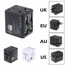 Universal Power Adapter Electric Converter US/AU/UK/EU World USB Travel Plug New