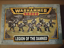 Warhammer 40K Space Marines Legion of the Damned OOP Metal Squad NEW + Lascannon
