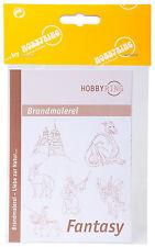 DIN-A3 Vorlagenbogen für Brandmalerei Zeichenvorlage doppelseitig - Fantasy