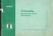 LIMBACH-OBERFROHNA, Teile-Katalog 1960, Textima 8410 8411 8413 Nähmaschinenwerk