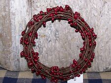 18 Ft BURGUNDY Pip Berry Single Ply String Garland  Primitive Country Home Decor