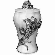 Pewter - Lily Marble Effect Finish Cremation Ashes Urn (Casket Coffin Funeral)