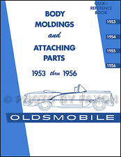 Oldsmobile Chrome Trim Molding Catalog 1953 1954 1955 1956 Olds Parts Clips