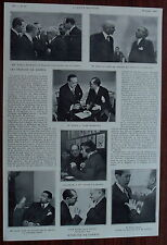 Article Conference Genéve,Tardieu,Gibson,Grandi,Rouchdi,Pilotti 1932 clipping