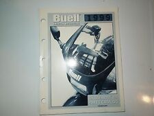 Harley-Davidson Thunderbolt S3 Buell Parts Catalog Manual