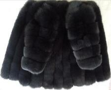 100% Real genuine blue (Vulpes lagopus) fox fur coat  medium and long