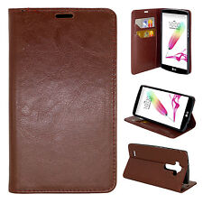 For LG G4 - Folio Flip Leather Wallet Pouch Phone Case with Card Slots and Stand