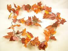 180cm Artificial Maple Garland / Vine in Orange Autumn Colour for Trellis