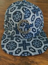 CROOKS AND CASTLES WOVEN THUXURY SILVER CHAIN C VENITIAN SNAPBACK IN TRUE NAVY