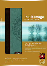 In His Image Devotional Bible NLT (2010, Imitation Leather Brown / Blue TuTone)
