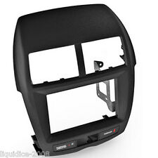 CT23MT08 MITSUBISHI OUTLANDER SPORT 2011   BLACK DOUBLE DIN FASCIA ADAPTER PANEL