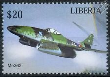 Luftwaffe MESSERSCHMITT Me-262 Me262 SCHWALBE / Swallow Aircraft Stamp (Liberia)