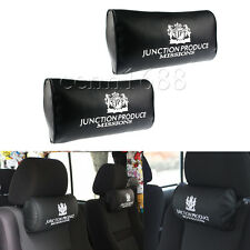 2x JUNCTION PRODUCE VIP Style Luxury PU Leather Car Neck Pillow Headrest