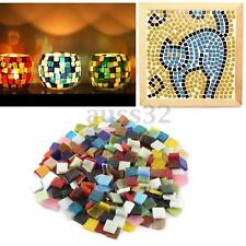 200g/Pack 1cm Home Decoration Mixed Color Stained Square Glass Mosaic Tiles