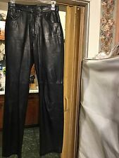 Genuine Leather Michael Hoban North beach, Black Pants 3-4