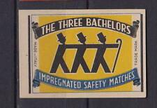 Ancienne étiquette allumettes Italie   Trois Bachelors
