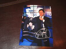 MIKE BABCOCK AUTOGRAPHED TORONTO MAPLE LEAFS 4X6 PHOTO # 01