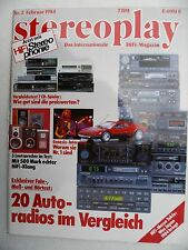 STEREOPLAY 2/84 ACCUPHASE T 106,BLAUP HAMBURG SQM 23,BERLIN IQR 83,PHILIPS AC44,