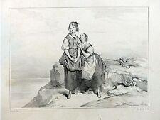 """Lithographie ACHILLE DEVÉRIA """"Virginie. Que la volonté de Dieu..."""" - Ch. Motte"""