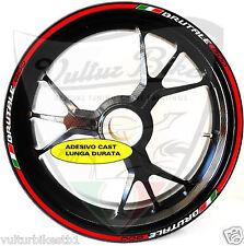 adesivi ruote moto per  brutale 800 strisce cerchi colore bianco rosso