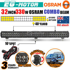 32INCH 330W  OSRAM LED WORK LIGHT BAR SPOT FLOOD COMBO LAMP OFFROAD ATV SUV 300W