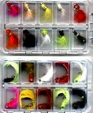 Trout Flies:10 LEAD DUMBELL EYED BUNNY LEECH 10 GOLD HEAD DEVELS: SIZE 10 BOXED