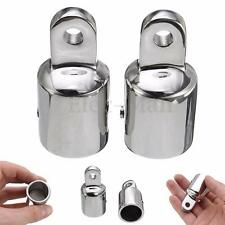 2pcs Eye End Cap Bimini Top Fitting / Hardware 7/8'' 316 Marine Stainless Steel