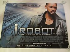I ROBOT movie poster WILL SMITH poster (Original UK Quad Poster)  30 x 40 inches