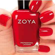 ZOYA ZP697 LIVINGSTON hot red nail polish lacquer~CASHMERES Collection .5oz NEW