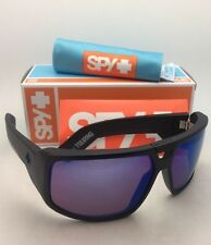 New SPY OPTIC Sunglasses TOURING Matte Black Frame w/ Happy Bronze+Blue Mirror