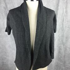 Banana Republic Grey Sweater Cardigan Sz M Wool Cashmere Gray Shawl Collar  P