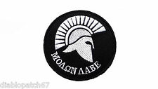 "MOLON LABE Tactical Military Airsoft Morale Biker Spartan Patch 2.5"" velcro hook"