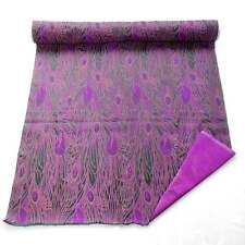 by the Meter cbs-603 Chinese Brocade Fabric Violet Purple peacock feather