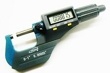 """iGAGING MICROMETER DIGITAL ELECTRONIC OUTSIDE 0-1"""" & METRIC X-LARGE LCD CARBIDE"""