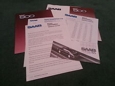 1985 Model SAAB 900 inc 900i / TURBO 16 PRESS RELEASE - 6 PART UK BROCHURE