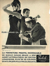 PUBLICITE ADVERTISING  1963   PRESTIL  fermetures éclair