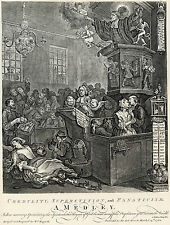 William Hogarth: Print Reproductions: Credulity & Superstition:  Fine Art Print