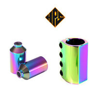 PRO STUNT SCOOTER PACK NEO CHROME NEOCHROME OIL SLICK PEGS SCS COMPRESSION CLAMP