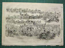 1854 DATED ANTIQUE ILN PRINT ~ GRAND PROCESSION OF THE EMPRESS OF AUSTRIA VIENNA