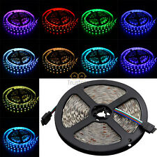5M SMD 5050 RGB LED Strip 300 LEDs Light Flexible 60/M 12V US Non-Waterproof