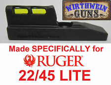 HIVIZ Hi-Viz LITEWAVE FIBER OPTIC Front Sight RUGER 22/45 LITE Mark MK 3 III