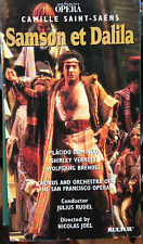 Samson et Dalila (VHS) Rare 1981 San Francisco Opera production-Placido Domingo