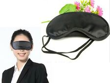 New Sleeping Eye Mask Blindfold Shade Travel aid Cover Sleep Light Guide Black