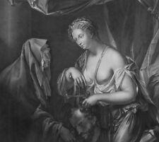 Gravure XIXème au burin - Judith - Philippe Van Dyck - Bourgeois et Beisson