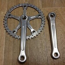 Pedalier Campagnolo Super Record Pista 165 Cranksets 46 Dents Bike Rare Fixie