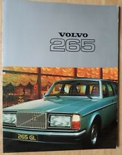 VOLVO 265 ESTATES 1977 UK Mkt Glossy Sales Brochure - DL GL