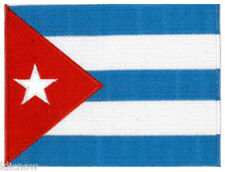 """Cuba  Cuban (embroidered) Country Flag Patch 5""""x 4"""" (13 x 10CM) approx"""