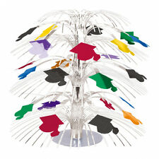 Graduation Table Decoration Cascade Table Centrepiece Coloured Mortar Boards