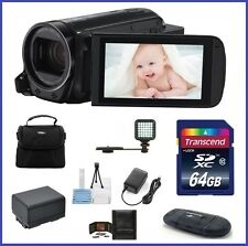 Canon VIXIA HF R700 HD Camcorder 64GB LED Light Bundle [Black] Authorized Dealer