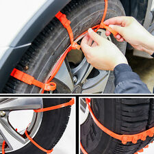 10× Car SUV Non-Slip Tire Chain Anti-Skid Mud Ice Snow Tyre 14''-24'' Wheel Hub